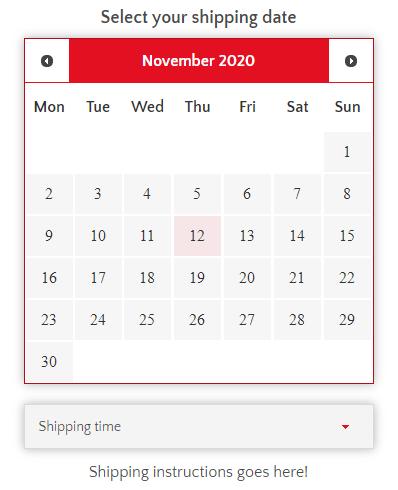 Custom Calendar ODD
