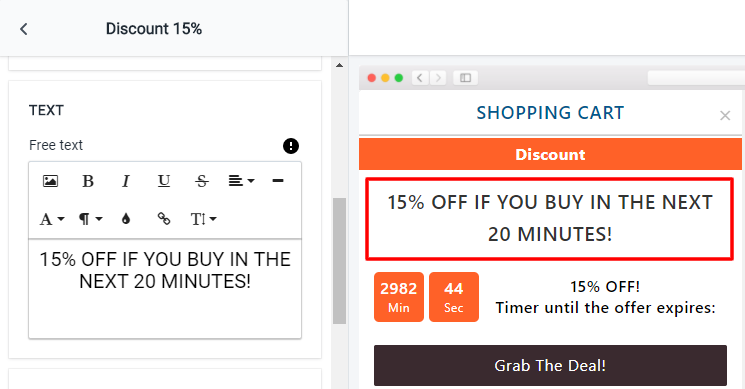 Discount - Text