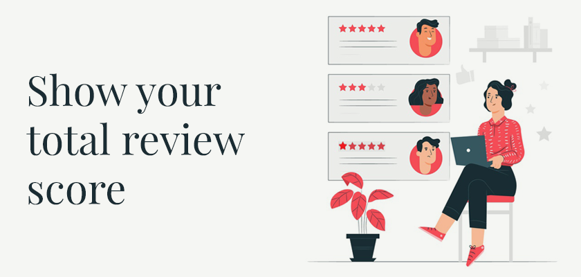 Show your total review score